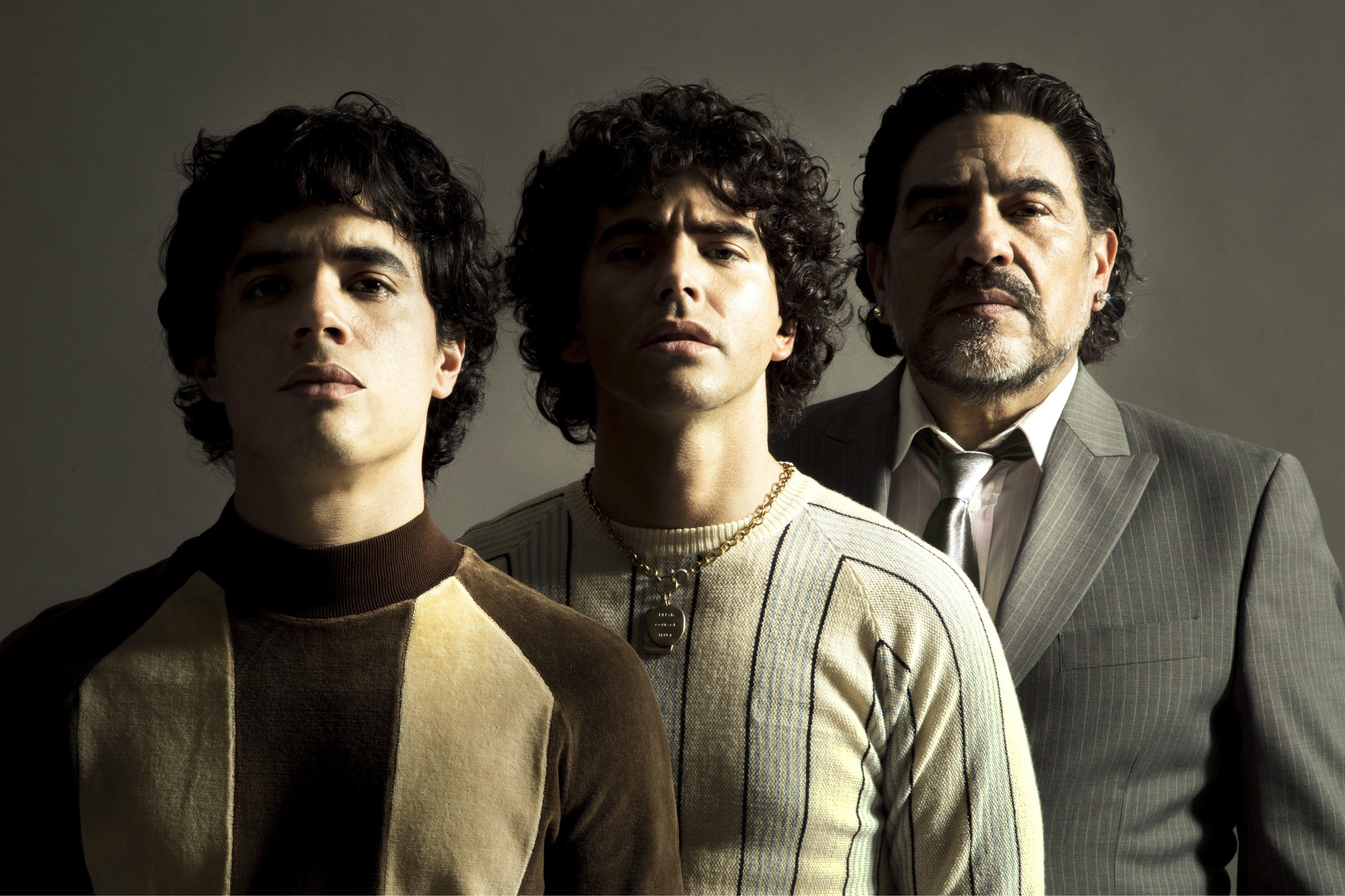 Nazareno Casero, Juan Palominoe Nicolás Goldschmidt interpretarão Maradona em diferentes fases da vida do jogador
