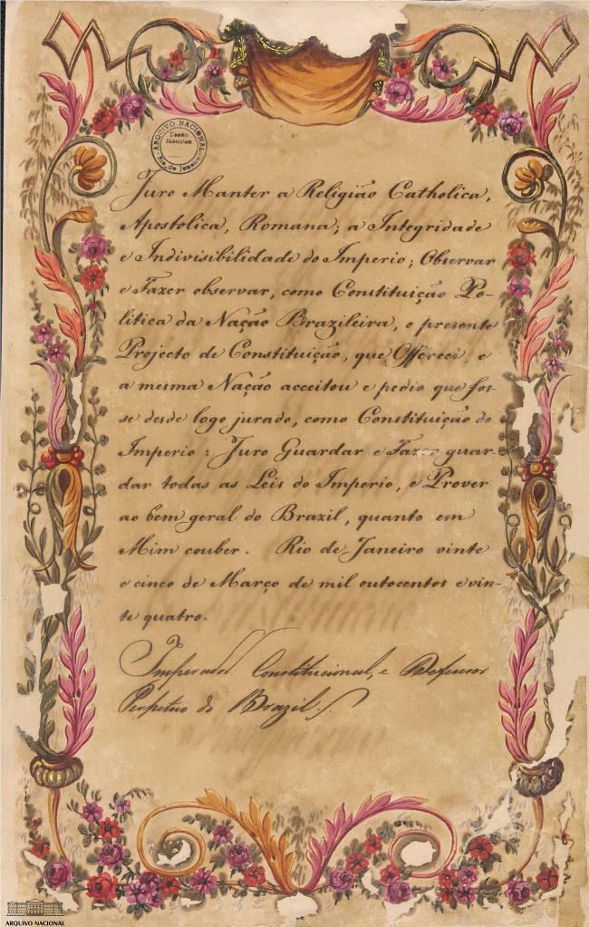 Juramento de dom Pedro I à Constituição de 1824