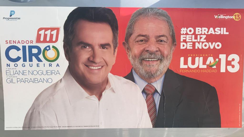 Ciro Nogueira espalha outdoors no Piauí com Lula | VEJA