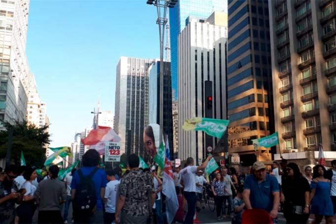 Militantes de Jair Bolsonaro e Ciro Gomes na Avenida Paulista