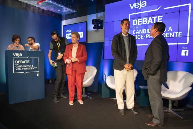 Bastidores do debate entre candidatos a vice-presidente – VEJA