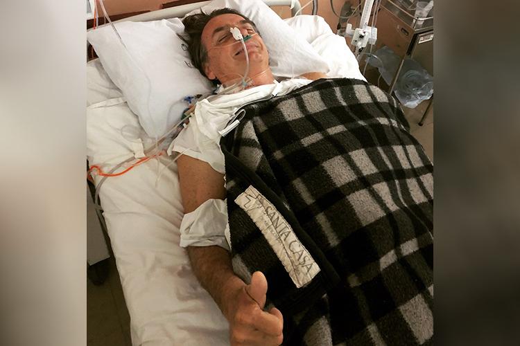 Jair Bolsonaro (PSL), candidato à Presidência da República, está hospitalizado na UTI da Santa Casa de Juiz de Fora (MG), após ser esfaqueado - 06/09/2018