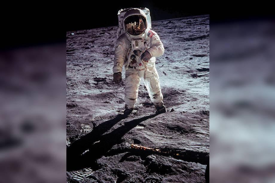Após Armstrong e Aldrin (na foto), só dez astronautas foram à Lua — todos dos EUA