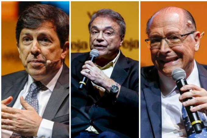 João Amoêdo, Alvaro Dias e Geraldo Alckmin