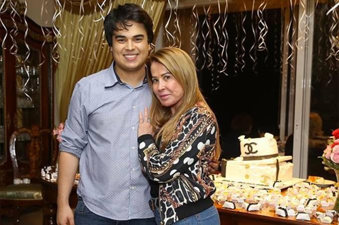Zilu Camargo e seu filho Igor
