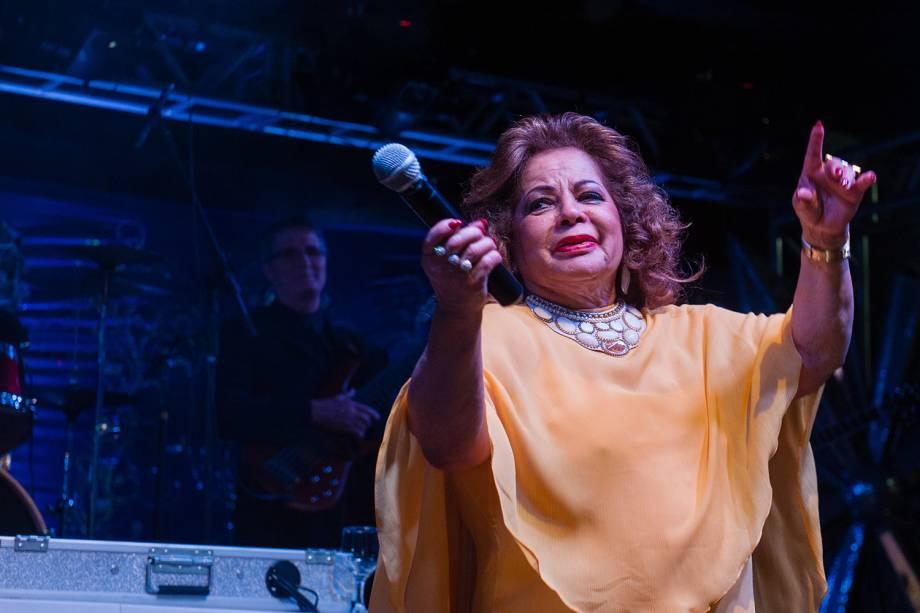 A cantora Ângela Maria completa 60 de carreira, em festa no clube Piratininga, em São Paulo - 13/05/2013