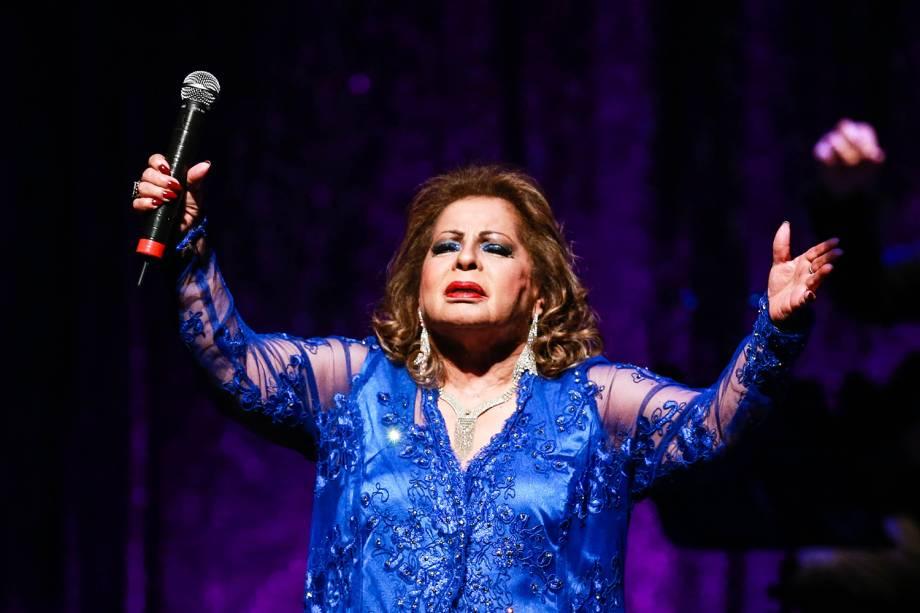 Ângela Maria durante o show 120 anos de música no teatro Bradesco em São Paulo - 25/10/2015