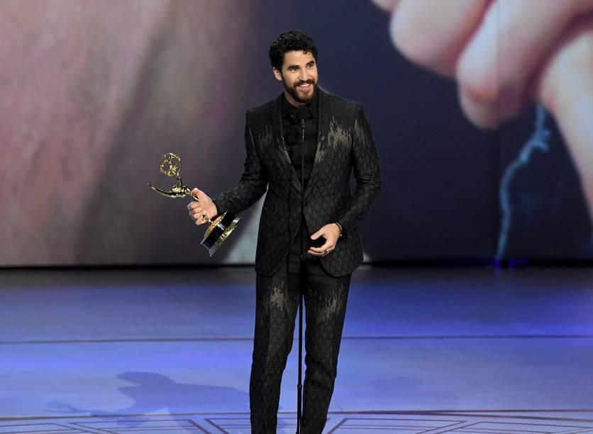 Darren Criss vence na categoria de Melhor ator em série limitada ou filme para TV, durante o Emmy Awards - 17/09/2018