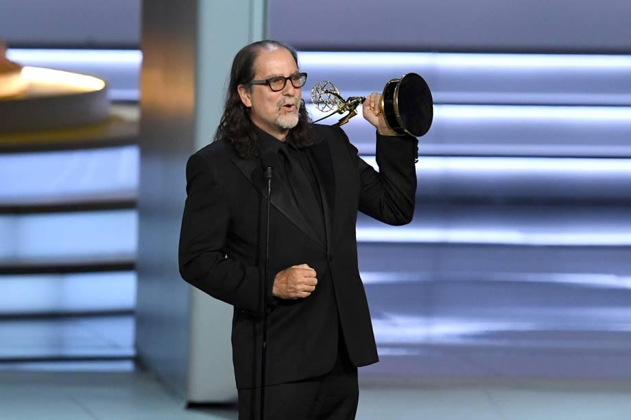 Glenn Weiss vence na categoria de Melhor direção em especial de variedades, durante o Emmy Awards - 17/09/2018