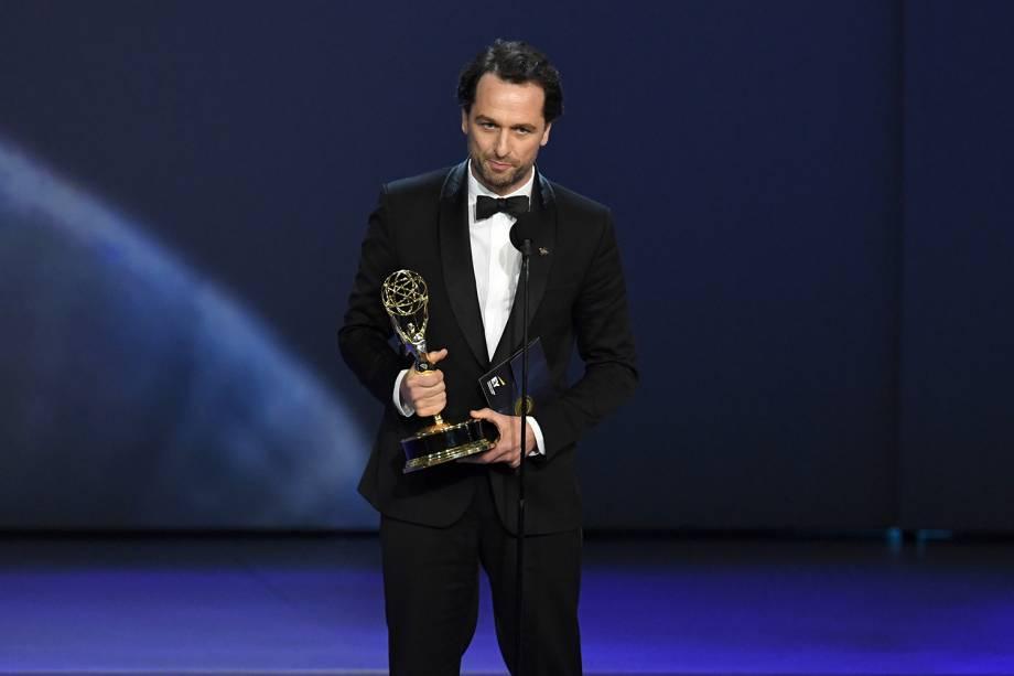 Matthew Rhys vence na categoria de Melhor ator em série dramática, durante o Emmy Awards - 17/09/2018