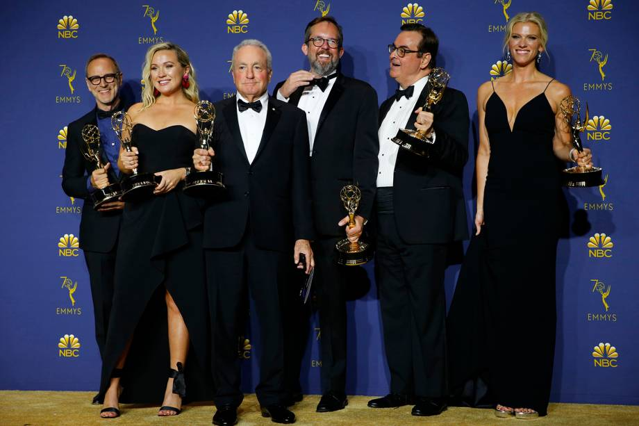 ''Saturday Night Live' vence a categoria de Melhor programa de esquetes, durante o Emmy Awards - 17/09/2018
