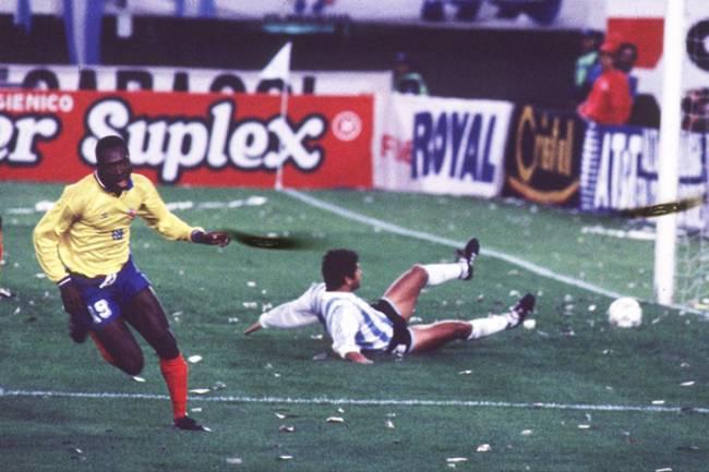 Freddy Rincón durante a goleada da Colômbia sobre a Argentina por 5 a 0 - 05/09/1993