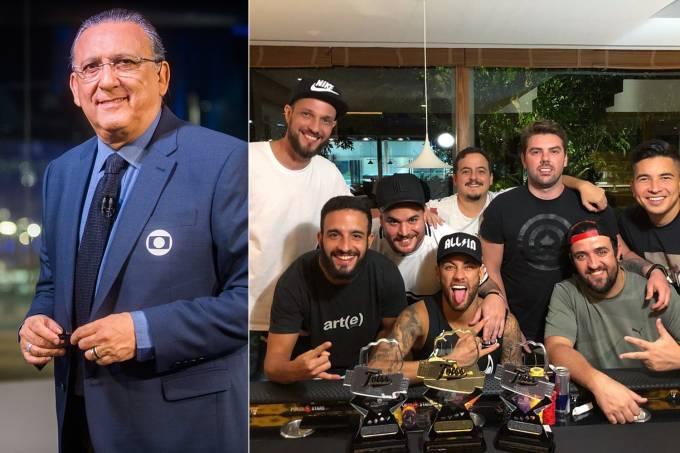 Galvão Bueno, Neymar e seus amigos