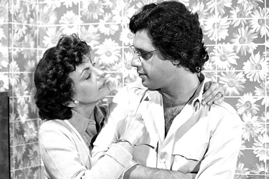 Beatriz Segall e Antônio Fagundes na novela 'Dancin' Days', em 1978