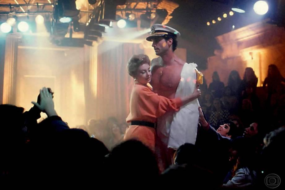 Beatriz Segall e Victor Fasano na novela 'De Corpo e Alma', de 1992