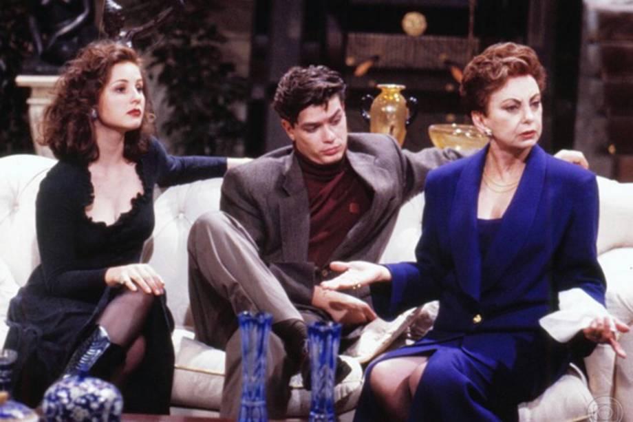 Daniela Camargo, Fábio Assunção e Beatriz Segall em cena da novela 'Sonho Meu', de 1993