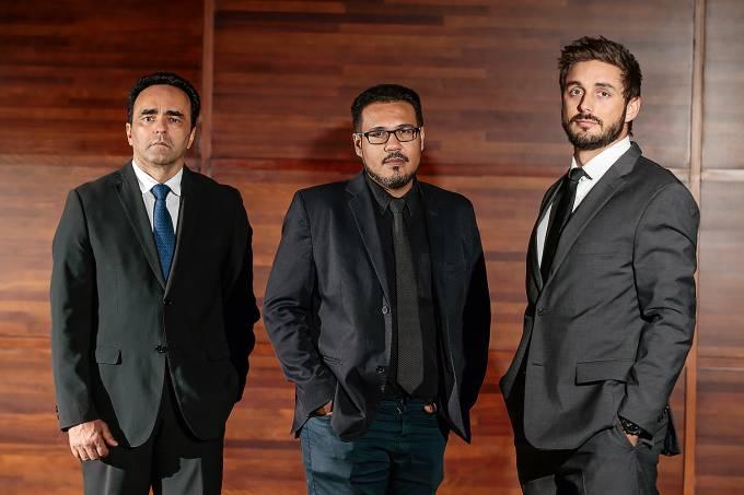 Hugo Marques, Nonato Viegas e Thiago Bronzatto