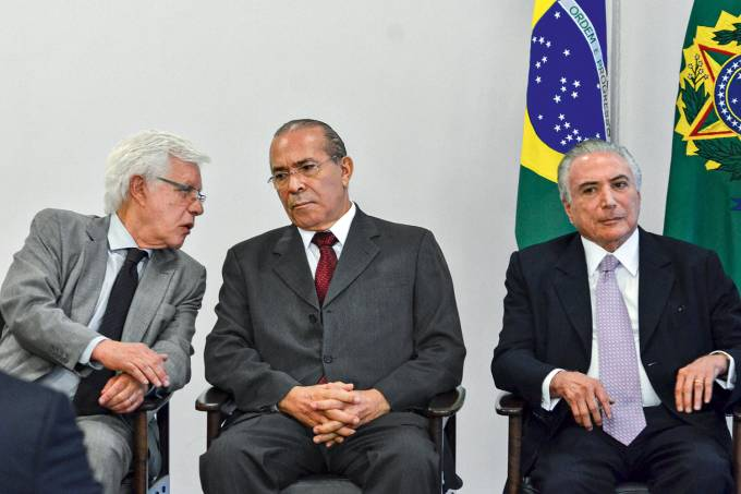 Maurício Quintella, Eliseu Padilha e Michel Temer