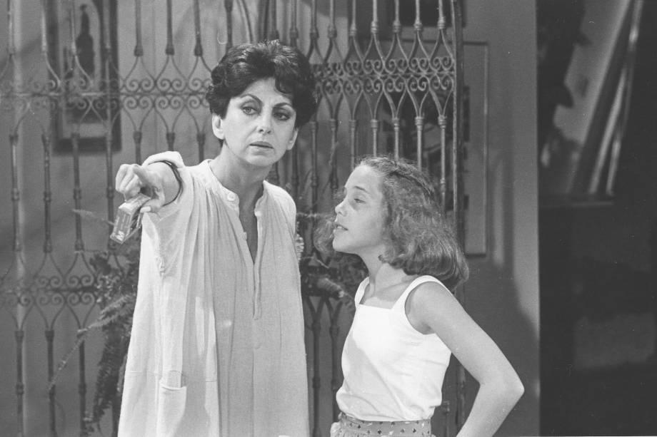 Beatriz Segall e Isabela Garcia na novela 'Água Viva', em 1980