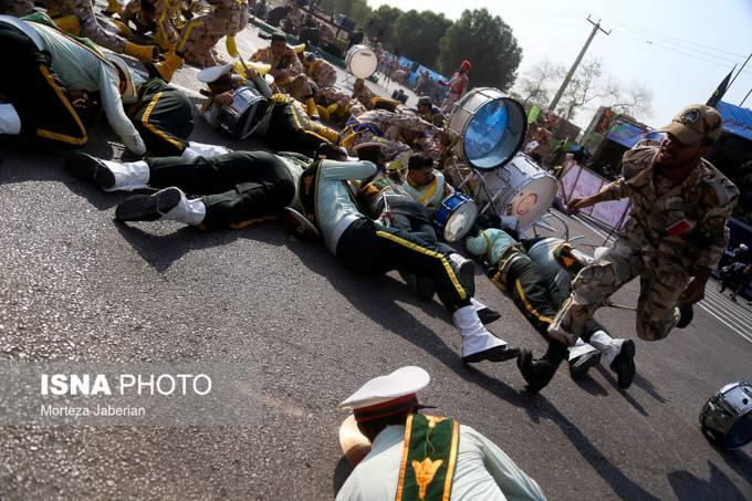 Ataque durante para militar no Irã