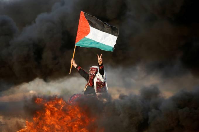 Protesto em Gaza