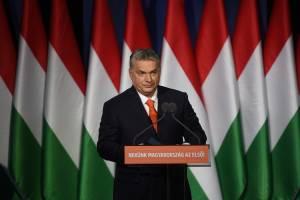 O primeiro-ministro húngaro e presidente do partido FIDESZ, Viktor Orban - 18/02/2018