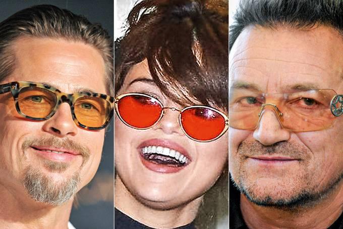 Brad Pitt, Selena Gomez e Bono Vox