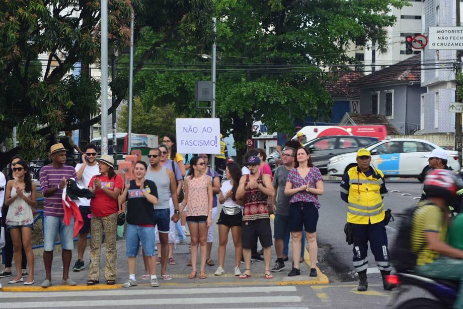 Protesto das mulheres contra o Bolsonaro no centro do Recife, Pernambuco - 29/09/2018