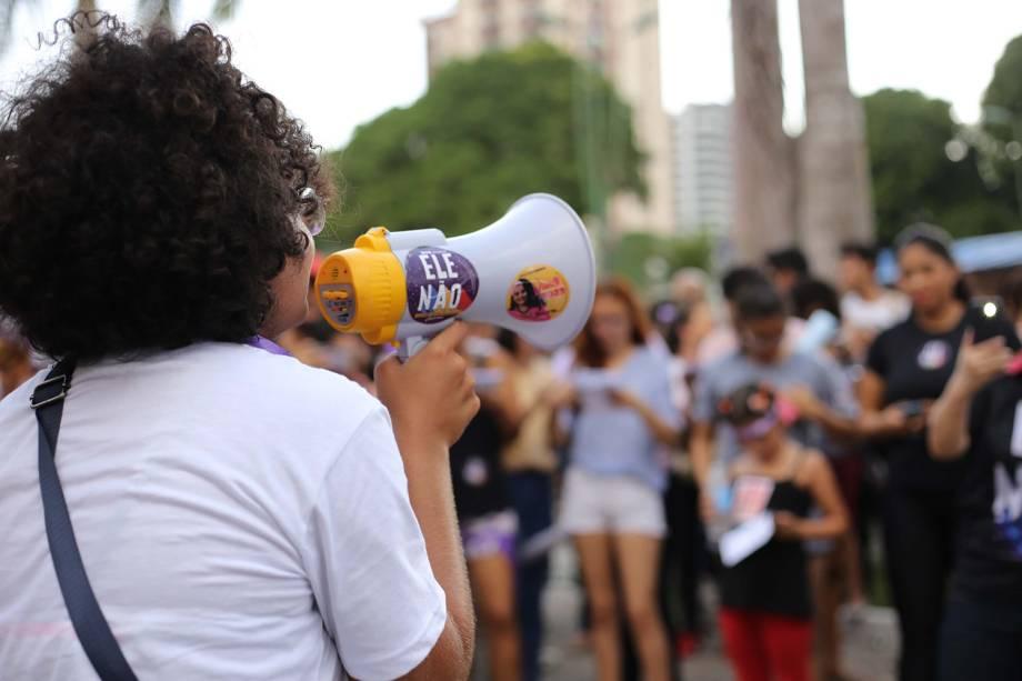 Protesto contra o candidato à presidência da República pelo PSL, Jair Bolsonaro em Belém, Pará - 29/09/2018