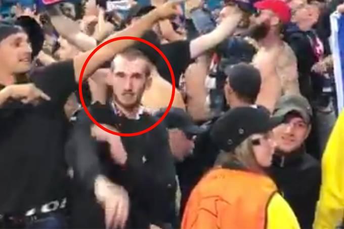 Torcedor Lyon faz gesto nazista