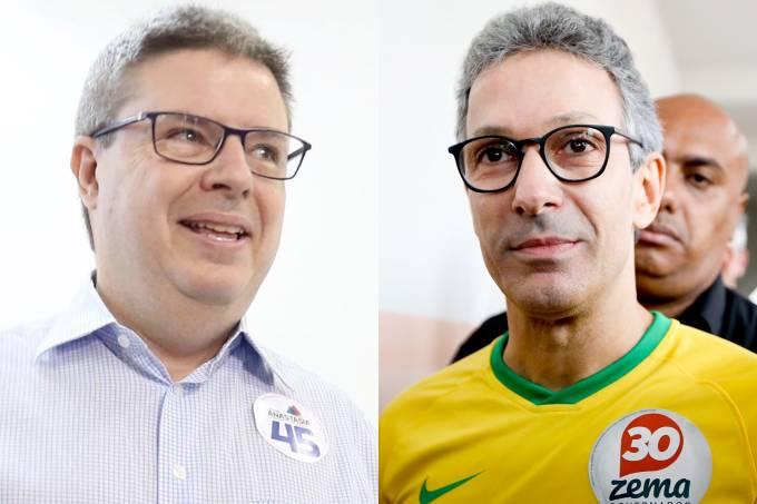 Antonio Anastasia (PSDB) e  Romeu Zema (NOVO)