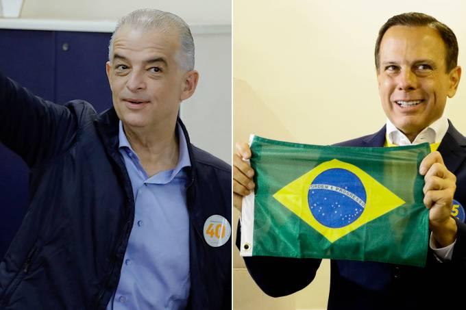 Márcio França (PSB) e João Doria (PSDB)