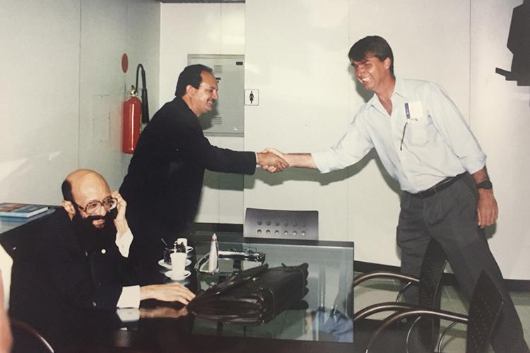 Jair Bolsonaro se encontra com Dr.Enéas Carneiro