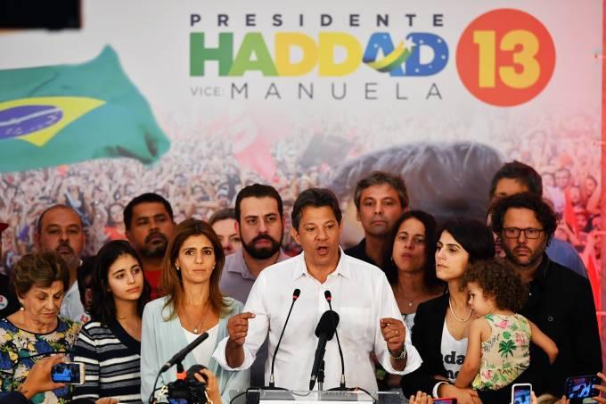 Fernando Haddad discursa após derrota