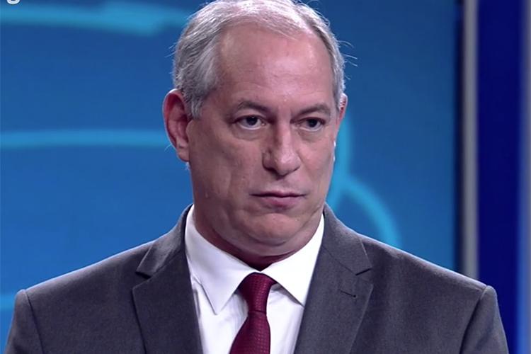 Ciro Gomes (PDT), candidato à Presidência da República, durante debate entre presidenciáveis na TV Globo - 04/10/2018