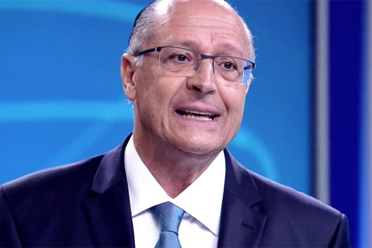 Geraldo Alckmin (PSDB), candidato à Presidência da República, durante debate entre presidenciáveis na TV Globo - 04/10/2018