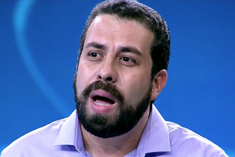 Guilherme Boulos (PSOL), candidato à Presidência da República, durante debate presidencial realizado pela TV Globo - 04/10/2018