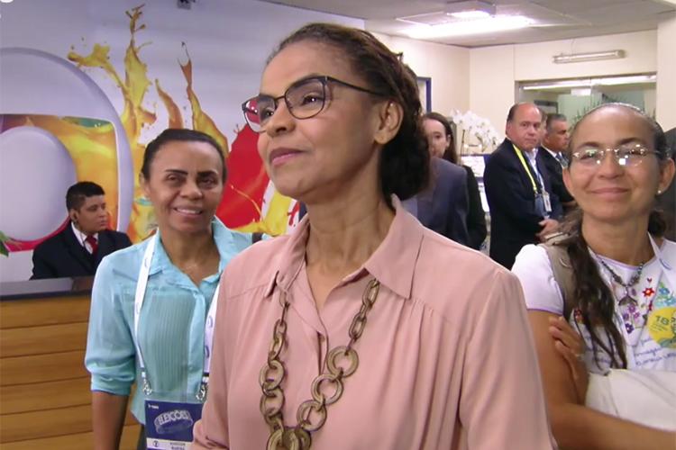 Marina Silva (Rede), candidata à Presidência da República, chega aos estúdios da TV Globo para participar de debate presidencial - 04/10/2018