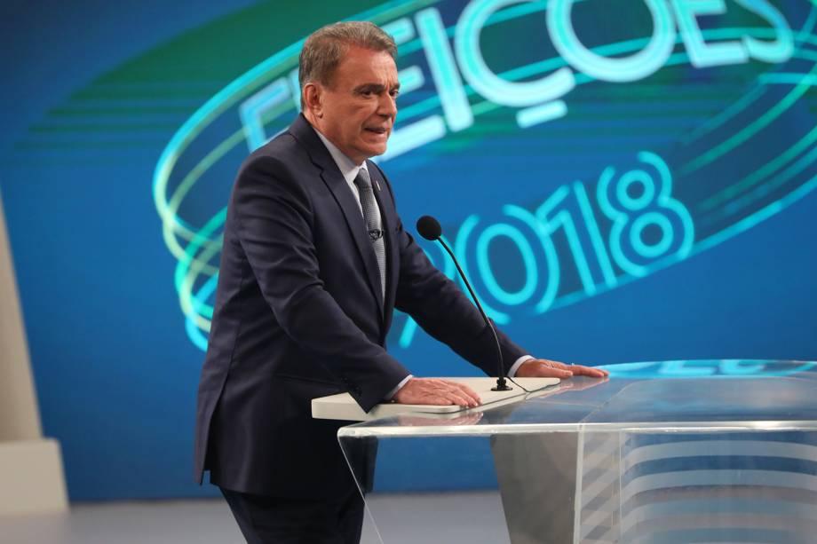 Alvaro Dias (Podemos), candidato à Presidência da República, participa de debate realizado pela TV Globo - 04/10/2018