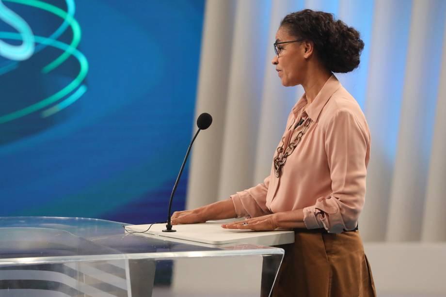 Marina Silva (Rede),  candidata à Presidência da República, participa de debate realizado pela TV Globo - 04/10/2018
