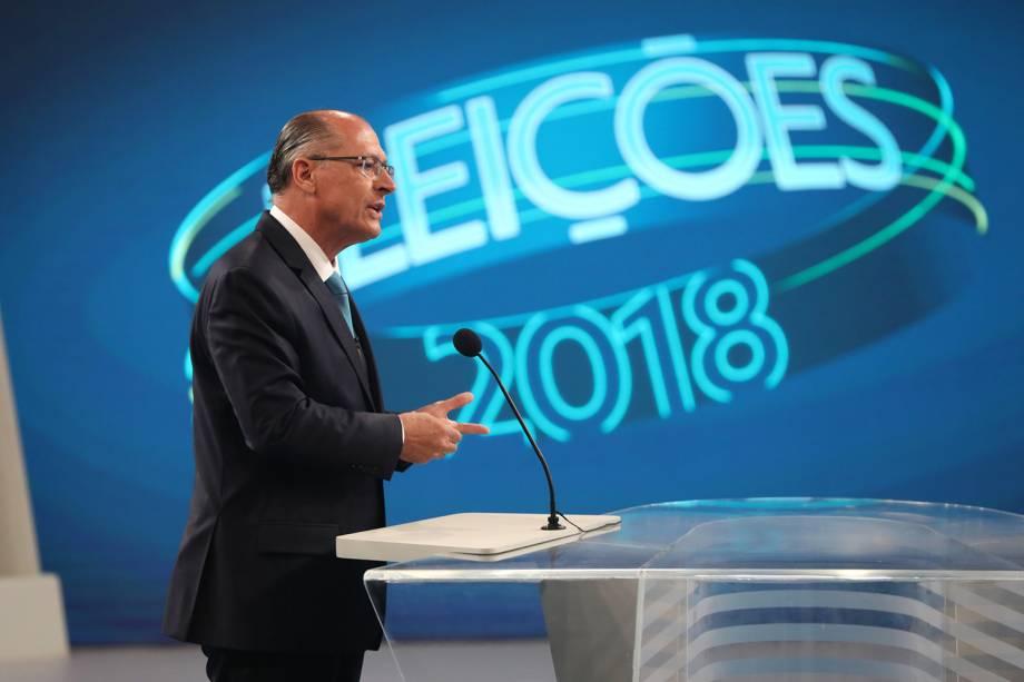 Geraldo Alckmin (PSDB), candidato à Presidência da República, participa de debate realizado pela TV Globo - 04/10/2018