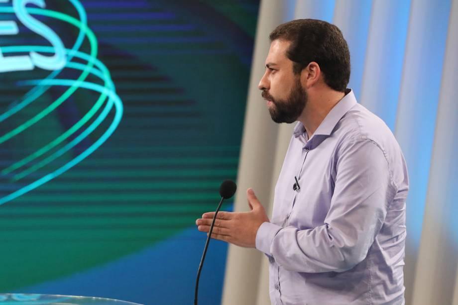 Guilherme Boulos (PSOL), candidato à Presidência da República, participa de debate realizado pela TV Globo - 04/10/2018