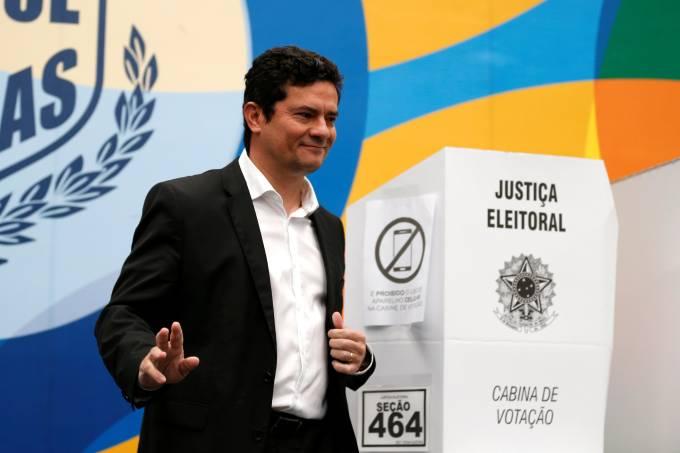 Sergio Moro vota em Curitiba