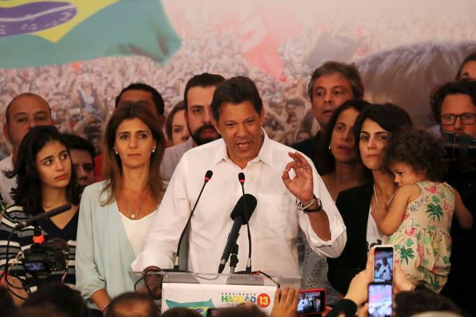 Pronunciamento de Fernando Haddad após a apuração dos votos