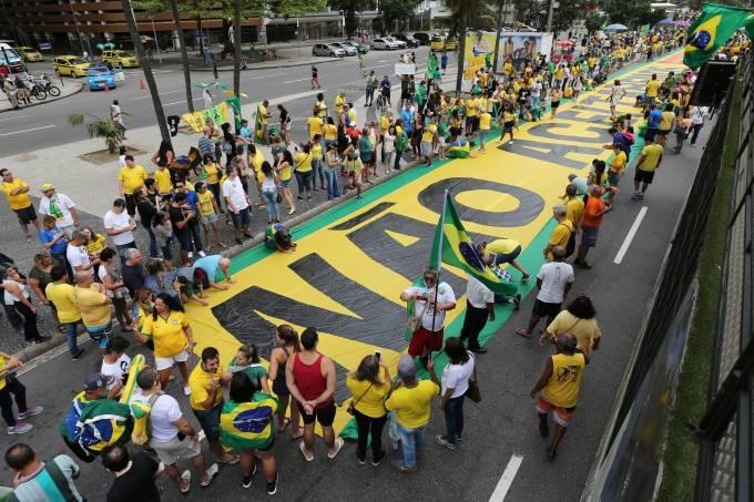 Manifestação pró-Bolsonaro