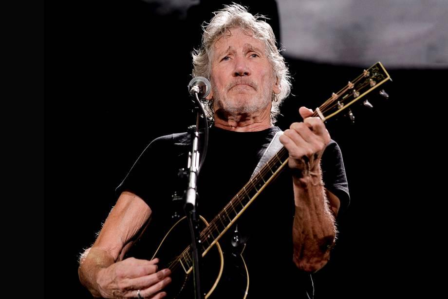 O vocalista, ex-líder da banda Pink Floyd Roger Water se apresenta no Allianz Parque, em São Paulo - 09/10/2018