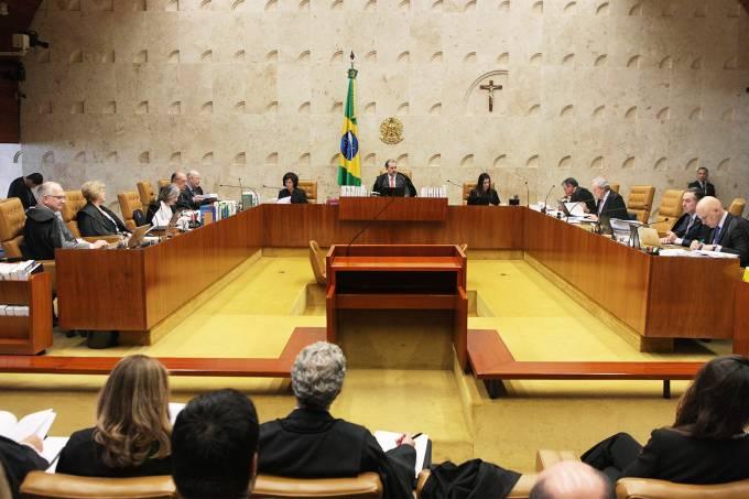 Sessão plenária do Supremo Tribunal Federal (STF)