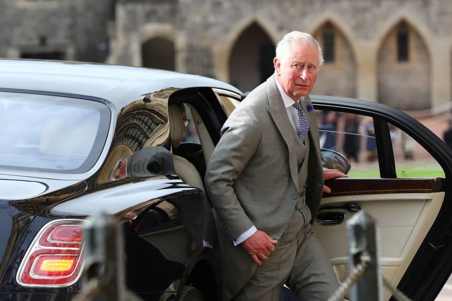 Príncipe de Charles chega antes do casamento da Princesa Eugenie com Jack Brooksbank na Capela de São Jorge no Castelo de Windsor - 12/10/2018