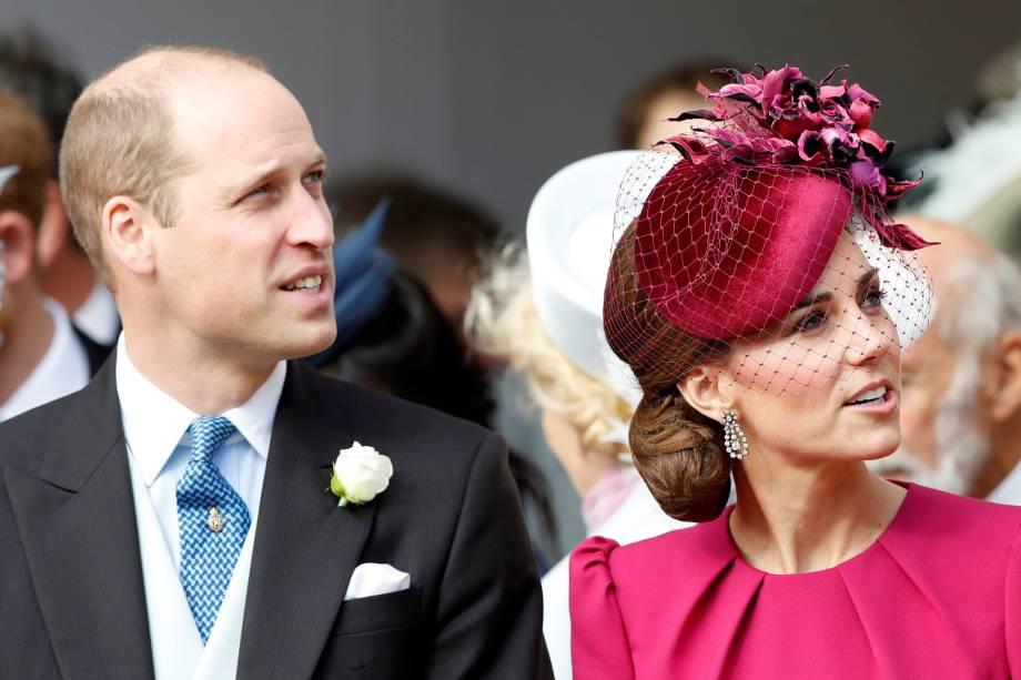Príncipe William e Kate, Duquesa de Cambridge participam da cerimônia de casamento da princesa Eugenie de York no Castelo de Windsor - 12/10/2018