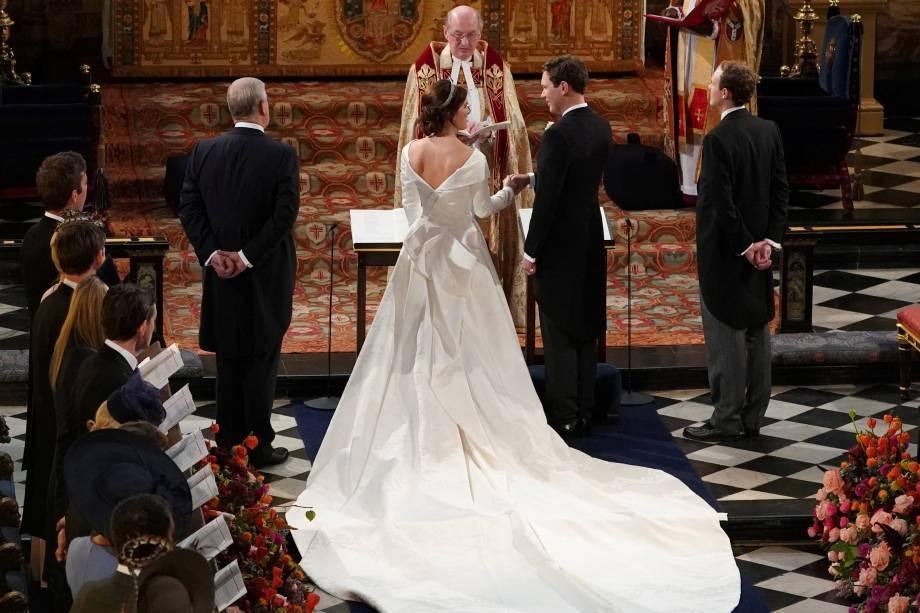 Princesa Eugenie de York se casa com o Sr. Jack Brooksbank na Capela de São Jorge no Castelo de Windsor - 12/10/2018